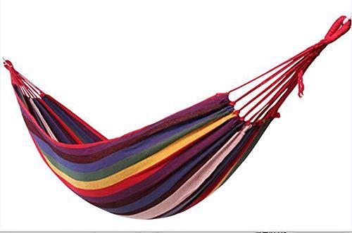 Hamaca Ultraligera para Camping, Cama Portátil De Lona, Jardín Patio Trasero Playa Mochileros, Acampar Capacidad De 300 Kg Peso Ligera,Rojo