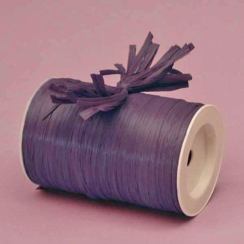 Paper Mart Plum Matte Raffia Ribbon, 1/4 X 100 Yards by