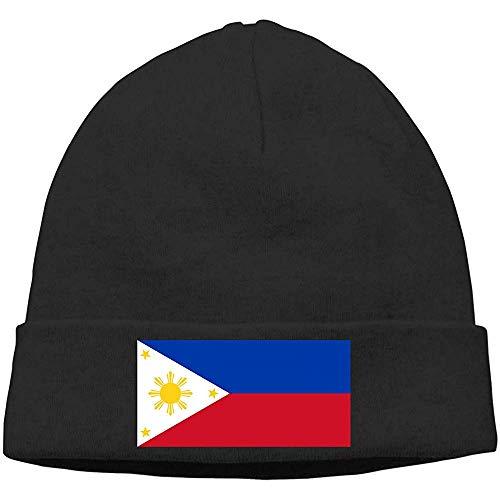 LinUpdate-Store Philippinen Flagge Unisex Soft Hedging Hats Uhrenkappe Schwarz Warm Hedging Cap für Männer Frauen