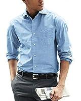 COOFANDY Men's Casual Business Linen Shirt Basic Spread Collar Twill Work Shirt