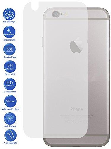 Todotumovil Protector de Pantalla Apple iPhone 6 Plus Trasero de Cristal Templado Vidrio 9H para movil