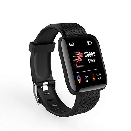 Tree-on-Life 116 Plus Smart Watch Smart Watch da 1,3 Pollici con Schermo a Colori da 1,3 Pollici Smart Watch Fitness Tracker per attività Sportive - Nero