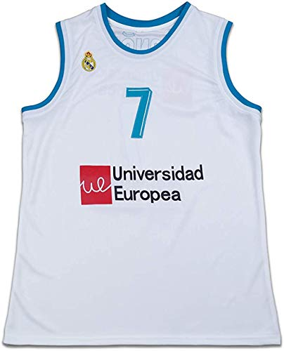 Luka Doncic 7 Real Madrid White Basketball Jersey Stitch Euro (42)