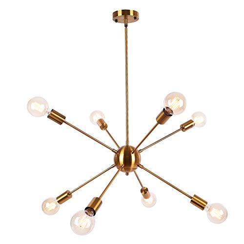 OYIPRO Sputnik Lampadario Modern sfera Lampada a sospensione con 8 E27 per soggiorno Camera da letto Loft (Senza lampadina)