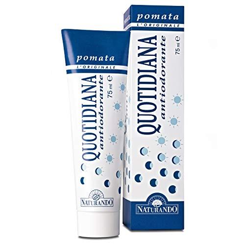 Naturando Quotidiana 75ML Pomata Antiodorante che Previene il Cattivo Odore Ostacolando la Degradazione del Sudore da parte dei Batteri