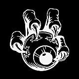 BJRHFN ハロウィンモンスターの手の眼球ビニール車ステッカー装飾的なアクセサリーシルエット13.1X13.9CM (Color : White)