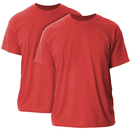 Gildan Men's Ultra Cotton T-Shirt, Style G2000, 2-Pack, Red, X-Large