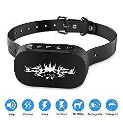 GASUR Dog Bark Collar-Effective Bark Collar 7 Adjustable Sensitivity Shock Collars for Small Medium Large Dogs Rechargeable & Waterproof Beep/Vibration/Shock 3 Training Mode