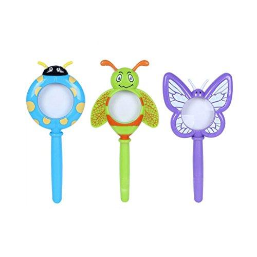 TOYMYTOY 3 stücke Kinder Handlupe Kunststoff Cartoon Insekt Vergrößerungsglas Spielzeug