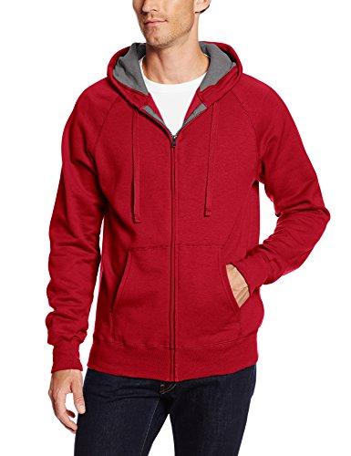 Hanes Men's Full Zip Nano Premium Lightweight Fleece Hoodie, Vintage Red, XX-Large