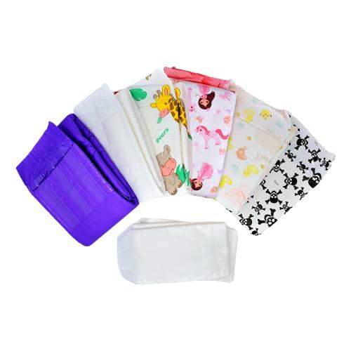 Rearz - Adult Diaper Sampler - Variety Box (8 Pack) (Medium)