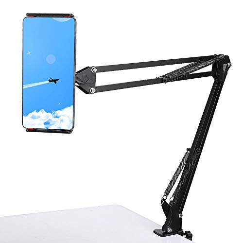 Durable Tablet Stand, Metal Lazy Phone Clip Bracket, Flexible Adjustable Phone Accessories for Bed Desk Support 4.3-7 inch Phones and Tablets