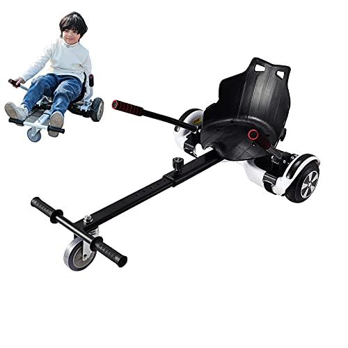 Camelmother Hoverboard Seat Attachment Transform Your Hoverboard into Go Kart for Kids or Adults Adjustable Hoverboard Accessories for Self Balancing Scooter