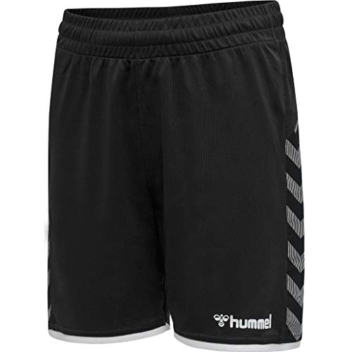 hummel Jungen hmlAUTHENTIC Kids Poly Shorts, Black/White, 152