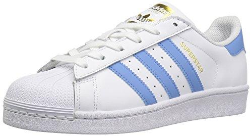 adidas Originals Superstar, Zapatillas Mujer, Color Blanco, Azul y Dorado metálico, 47 1/3 EU