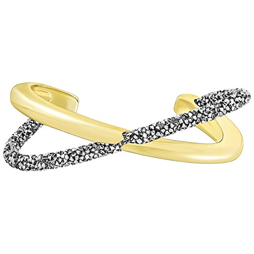 Swarovski pulsera Junco crystaldust Cross dorado/gris L