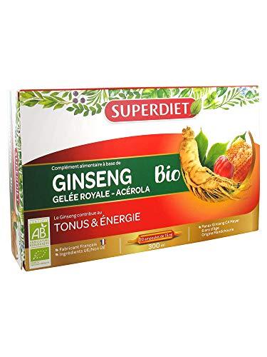 SuperDiet Ginseng d'Acérola Gelée Royale Super Diet 20 ampoules de 15ml soit 300ml