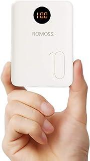 Romoss Bateria Externa para Movil, Powerbank 10000mah Cargador Portatil con Entrada L igtning Micro USB Tipo c, 2 Salidas USB 2,1A para la Mayoría de los Smartphone, Tabletas y Otros Dispositivos