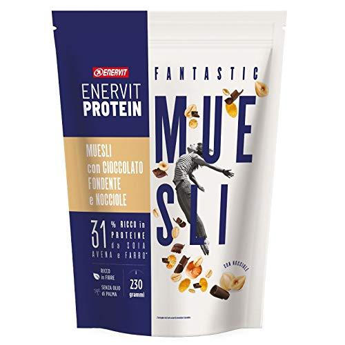 Enervit Protein Muesli Cioccolato Fondente e Nocciole Box 6x230g