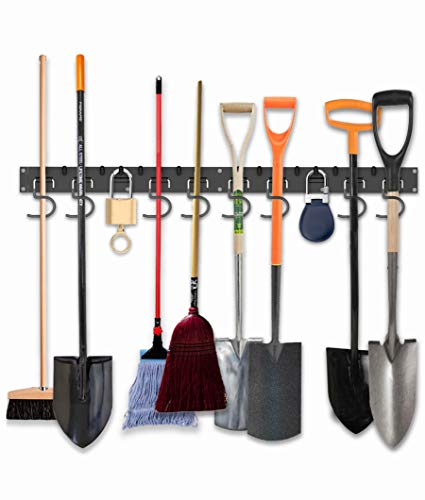"POETISKE Garage Tool Organizer Wall Mount 16"" Extendable Ideal Shelving Hooks for Garden Kitchen Yard Storage 4 Pack"