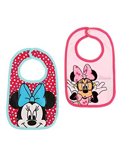 Lot de 2 bavoirs bébé fille Disney Minnie Rose Taille unique (0 à 6mois) - Rose, Taille unique