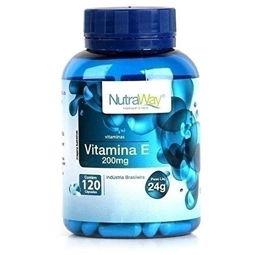 Vitamina E 120 Cápsulas - Nutraway, 200mg, 120 Cápsulas - Nutraway