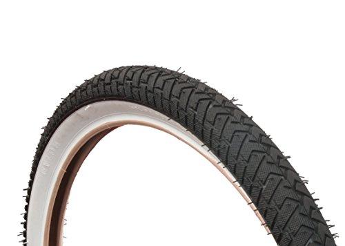 CURIO UK Weißwand-BMX-Reifen 20x 2,125, LS214, Rampen-/Straßenbereifung, Schwarz