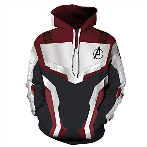 Herren Hooded Long Sleeve 3D Digitaldruck Avengers Quantum Kleiderschrank Design Paar Pullover Hoodies(S,blau)