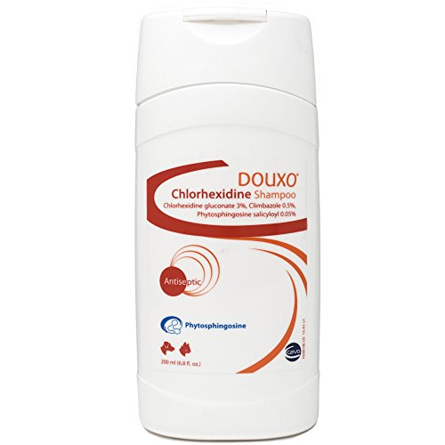 Douxo (Sogeval) Chlorhexidine Shampoo for Dogs & Cats (200 ml) – Topical Solution for Skin Infections