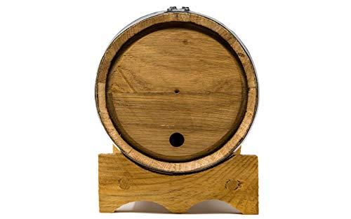Premium Charred American Oak Aging Barrel (2 Liter) - No Engraving/Includes 12 page color barrel aged cocktail recipe booklet