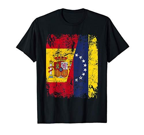 VENEZUELA ESPAÑA BANDERA de la AMISTAD VENEZUELA Camiseta