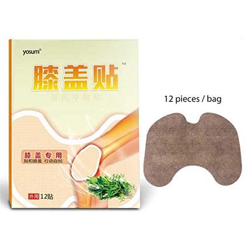 12 Stück HELLOYOUNG Chinesisches pflanzliches medizinisches Pflaster Moxa Kniepflaster Gelenk Rheumatoide Muskelentlastung Arthritis Entlastung Salbenpflege
