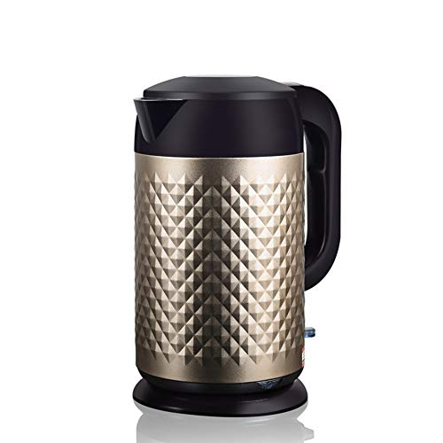 GUCL Kessel, 1.8L 304 Edelstahl Wasserkocher Cordless 1850W Haushalt Küche Schnell Heizung Elektrokoch Teekanne,Gold