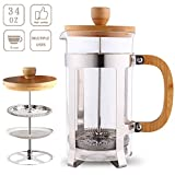 Sivaphe 34 oz French Press Coffee Maker, Espresso and Tea with 18/8 Stainless