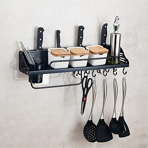 Utensilios de Cocina MMGZ Una versión de 60 cm 1 Taza 10 Ganchos de Cocina multifunción de Pared Titular del condimento de Almacenamiento en Rack
