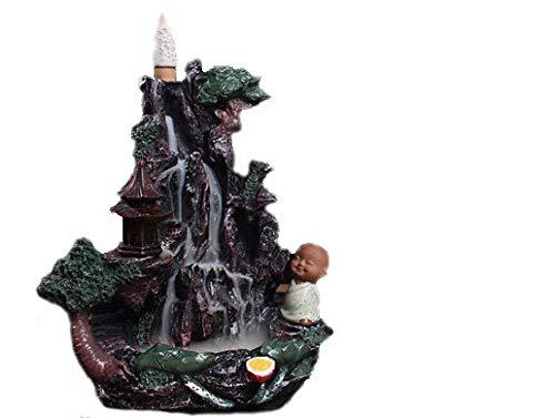 Beihaoer Großer Rückfluss-Räuchergefäß aus Keramik, Wasserfall-Räucherkegel, Brenner mit 10 gratis Kegeln