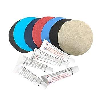 Gxing Colle de réparation en PVC pour matelas pneumatique, bateau, canapé, kit de réparation universel, 10 pièces