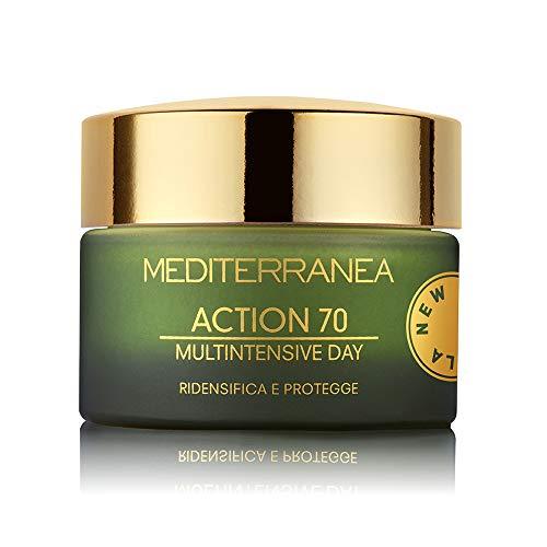 Mediterranea - Crème Visage de Jour Hydratante Action 70 - Crème Anti-Rides qui Reconstitue et Raffermit la Peau - 50 ml