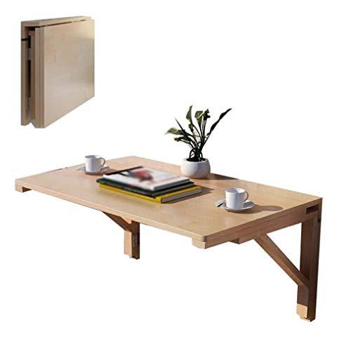 LM Huishoudelijke Wandmontage Vouwtafel Praktische Eettafel Computer Tafel, Massief Houten Wandplank, Perfect Keuze voor Kleine Familie, 8cm Dik na het vouwen