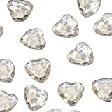 Like a Girl - wir lieben Hochzeiten Aprox. 200 cristales de mesa en forma de corazón en diferentes tamaños para decoración de mesa de boda