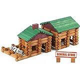 Joqutoys Wood House Logs Construction Building Set Preschool Education...