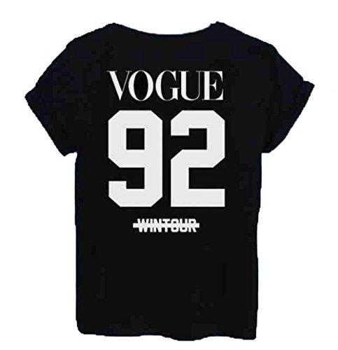 Unisex-T-Shirt, Vogue 92Wintour, More issues than Celine Paris Gr. Small 8 UK, Schwarz