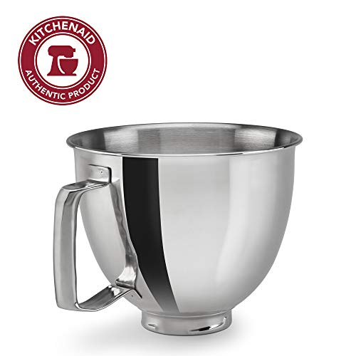 KitchenAid KSM35SSFP Polished Stainless Steel Bowl with Handle, Metallic