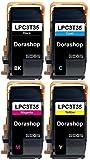 【Amazon.co.jp限定】エプソン用 LPC3T35 互換トナーBK/C/M/Y 「4色セット」ブラック/シアン/マゼンタ/イエロー(LPC3T34も対応可能)対応機種:EPSON LP- S6160 国際規格ISO9001認証工場生産 ICチップ搭載 【DoraShop】
