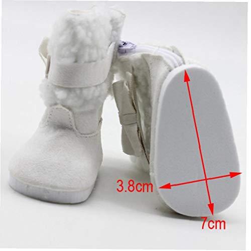 Angoter 18 Zoll Puppen Schneeschuhe für 43cm Baby Doll Zubehör Baby Doll Winter-Chirstmas Schuhe