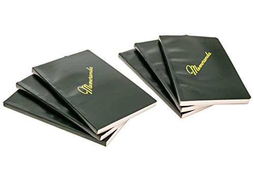 DIY Indispensables US Military Memo Book (6 Pack) Side Bound 3-3/8 x 5-5/8 Inch with Durable Sewn Binding College Ruled 72 Sheet 144 Page Notebook NSN 7530-00-222-0078 Made in USA