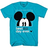 Disney Mickey Mouse Best Day Ever Toddler Youth Juvy Kids T-Shirt (10/12, Turquoise)