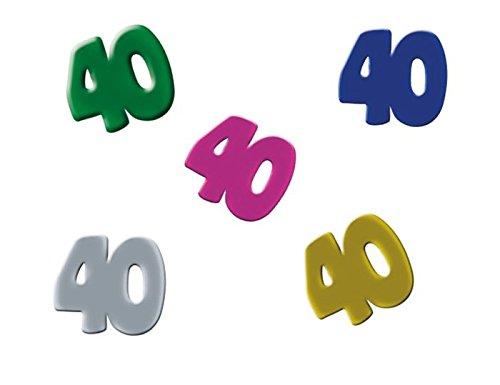 Confettis de table anniversaire 40 ans