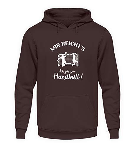 shirt-o-magic Handballer: Ich GEH zum Handball! - Unisex Kapuzenpullover Hoodie -XL-Schokolade