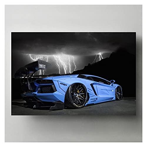 RHWXAX Modern Wall Art Picture Aventador LB Performance Supercar Lienzo Pósteres Pinturas HD Impresiones para la decoración de la Sala de Estar 20x28 Pulgadas Sin Marco